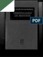 Criminalidad de Menores Luis Rodriguez Manzanera