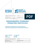radiographic standard operating protocols