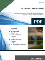 IIA ADVOCACY Presentation 2019