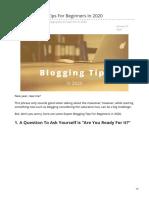 Expert Blogging Tips for Beginners in 2020