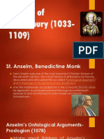 Anselm of Canterbury (1033-1109)