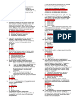 Pharmaceutical Biochemistry (PACOP RED) ANSWER SHEET