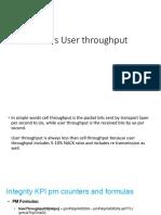 Cell vs User throughput