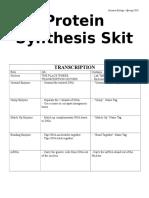 BIO_unit 7_Protein Synthesis Skit