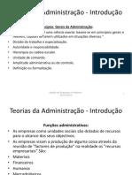4 Semana - IV - Teorias Administrativas
