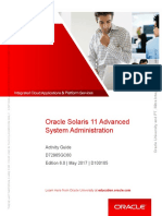 Student Guide Advance Level Solaris 11 System Administration