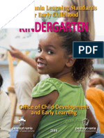 Early Learning Standards Kindergarten 2016