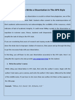 4 Guidelines to Write a Dissertation in the APA Style