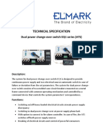 Technical specification- Dual power change-over switch EQ1 series (ATS)