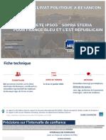 Ipsos Enquête sur les Municipales à Besançon