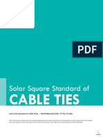 Solar Square Standard of Cable Ties