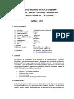 SILLABUS DE ECONOMIA CONTACILIDAD II