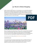 Love Shopping? Head to Dubai Shopping Festival 2020
