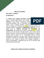 Documento de estatutos de una compañia anonima