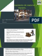 5.Almacenamiento de material y equipos