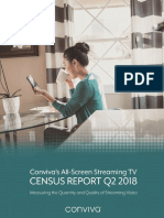 Conviva Q2 2018 All Screen Streaming TV Census Report