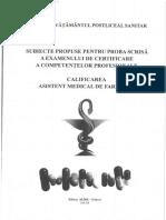 SUBIECTE ASISTENT MEDICAL