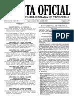 Gaceta Oficial N°41.797 Estudio Comparativo TDC y TD