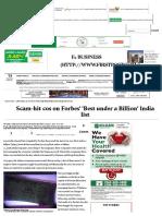 Scam-hit cos on Forbes' 'Best under a Billion' India list - Firstpost.pdf