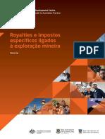 Royalties e impostos específicos ligados à exploração mineira