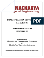 Communication System (LC-ECE204G) LAB Manual