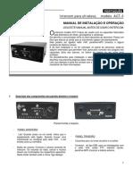 Intercom para ultraleve - MANUAL DE INSTALAÇÃO E OPERAÇÃO LEIA ESTE MANUAL ANTES DE USAR O INTERCOM.