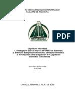 Investigación de INFORNET,Leg. Inf. y como se regula en Guatemala.docx