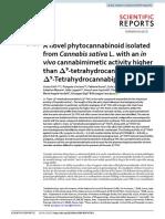 A novel phytocannabinoid isolated from Cannabis sativa L. with an in vivo cannabimimetic activity higher than Δ9-tetrahydrocannabinol