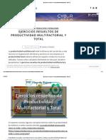 Ejercicios resueltos de Productividad Multifactorial y Total ?
