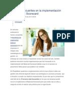 8 Errores frecuentes en la implementación de Balanced Scorecard