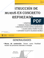 MUROS EN CONCRETO REFORZADO