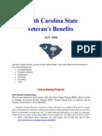 Vet State Benefits - SC 2020