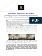 Military History Anniversaries 0116 Thru 013119