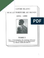 LE LIVRE BLANC SUR LA TORTURE AU BENIN 1972 – 1990