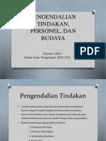 PENGENDALIAN TINDAKAN, PERSONEL, DAN BUDAYA ppt.pptx
