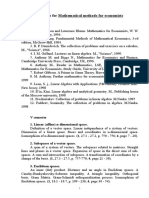 Syllabus for Mathematical Methods for Economists-1