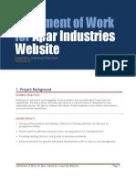 Apar Industries Website - Statement of Work