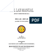 HDL LAB Manual - one