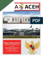 PERATURAN DPR RI NO.2 TAHUN 2018 TENTANG TATA TERTIB