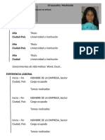 Plantilla de Curriculum Vital- Dianan Angulo Fernandez