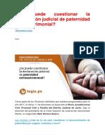 INFORMACIÓN IMPORTANTE-IMPUGNACION DE PATERNIDAD