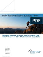 Application and Digital services in Banking – Services PEAK Matrix Assessment 2020 IT Modernization to Enable Digital - ES