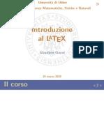 Corso Latex TeX