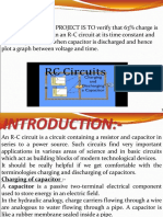 physics project on capacitor .