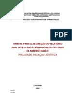 PUC 2009 ANEXO 3 MANUAL ESTÁGIO INICIAÇÃO CIENTÍFICA ADM
