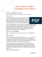 the ultimate guide to objeciton handling (cheat sheet)