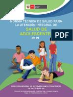 NTS N°157-MINSA-2019 - ATENCIÓN INTEGRAL AL ADOLESCENTE