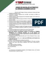 REQUISITOS PARA BACHILLER - ACTUALIZADO NOV 2019