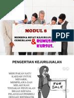 modul 8 KEJURUJUALAN
