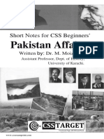Pakistan Affairs for CSS Beginners